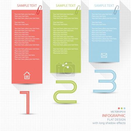 Illustration pour Éléments d'infographie - mémo post it notes - image libre de droit