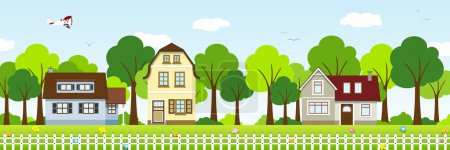 Illustration for Houses the suburbs - Royalty Free Image