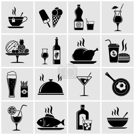 Photo pour Ensemble d'icônes vectorielles pour aliments et boissons - image libre de droit