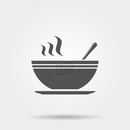 Soup icon. Vector illustration....