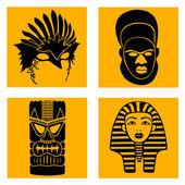 Masks of various nationalities