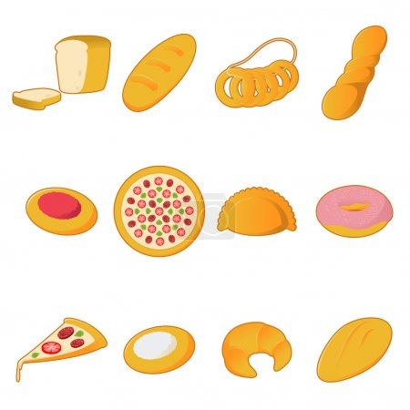 Collection of bread icons