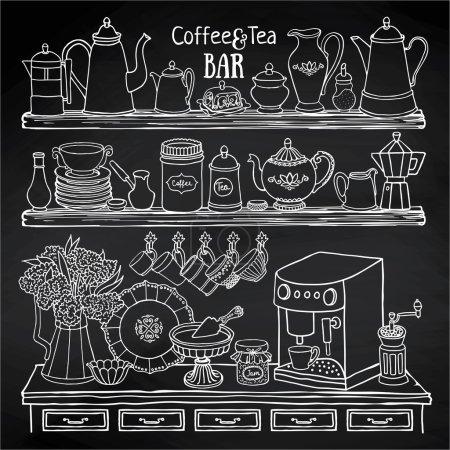 coffee and tea bar set