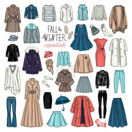 woman fall and winter fashion collection