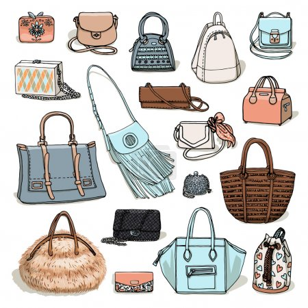 set of female bags