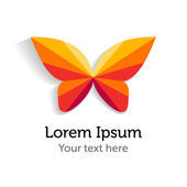 Butterfly logo design template
