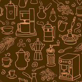 coffee drink icons pattern