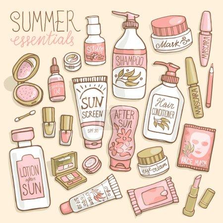 make up and cosmetics set