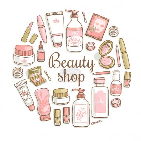 make up, cosmetics card