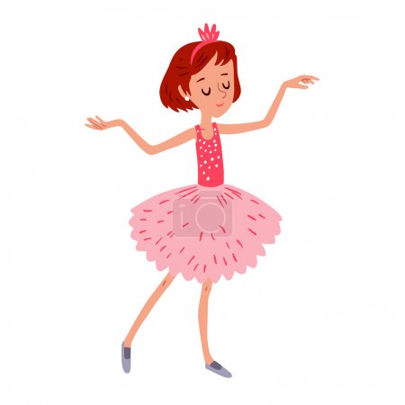 cartoon dancing ballerina