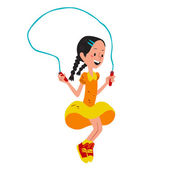 girl with jumping rope