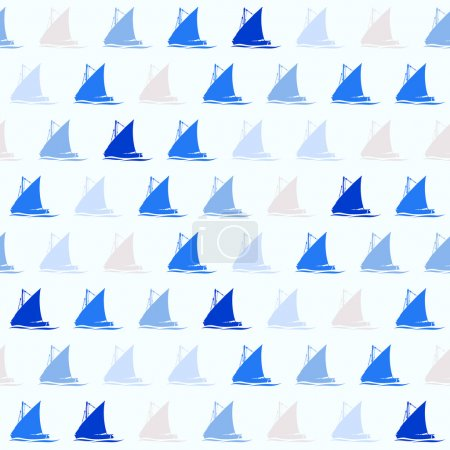 pattern with sailing boats