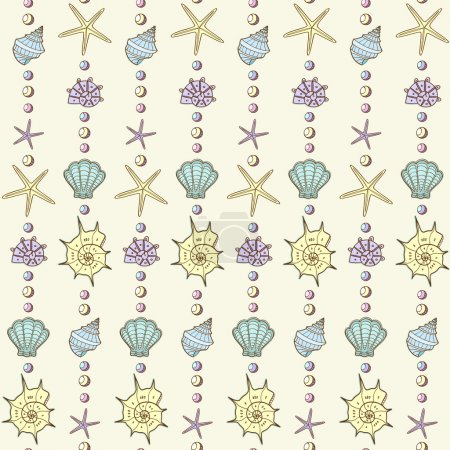 sea shells and stars pattern