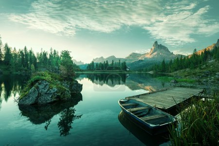 Beautiful lake at dawn