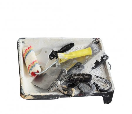 The painter's tools - the plasterer.
