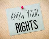 """Постер, картина, фотообои """"Знать ваши права сообщения"""""""