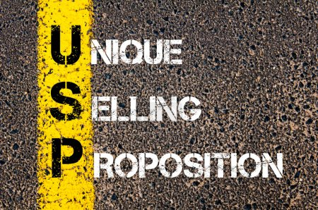 Business Acronym USP as Unique Selling Proposition