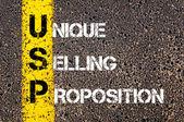 Obchodní zkratka Usp jako Unique Selling Proposition