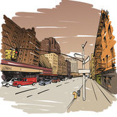 City hand drawn