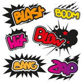 Set comic book explosions vector illustration