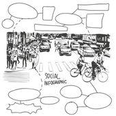 City banner design elements vector illustration
