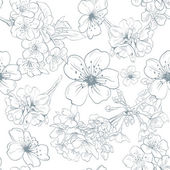Apple flowers ornament pattern backgrounds vector illustration