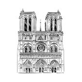 The Cathedral of Notre Dame de Paris France Vector illustration