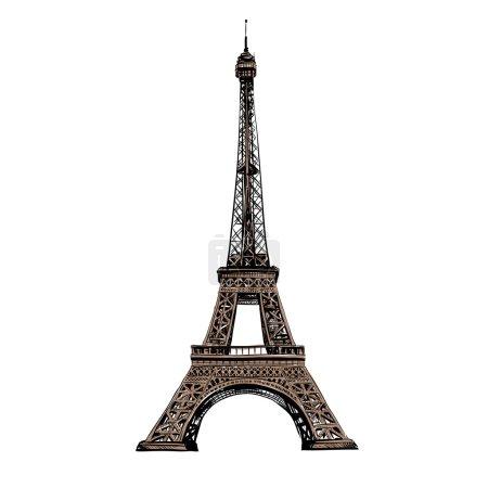 Illustration for Eiffel Tower, Paris. France. Vector illustration - Royalty Free Image
