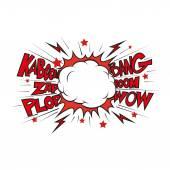 Boom Comic book explosionhand draw vector illustration