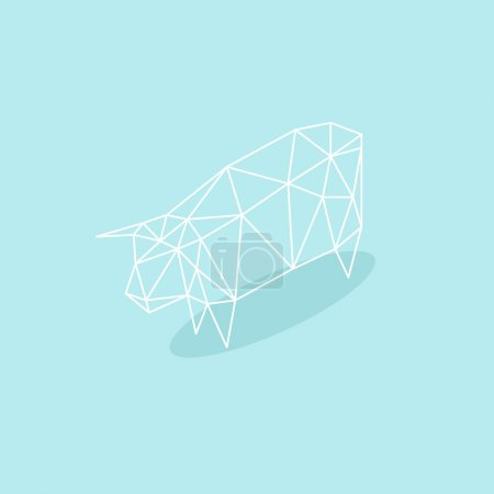 Cow abstract isolated on a white backgrounds, vector illustration