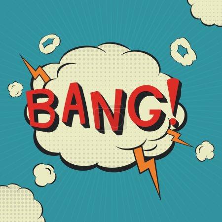 Bang. Comic speech bubble.  Vector illustration, c...