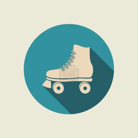 icône de patin à roulettes rétro .