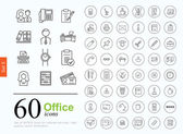 60 kanceláře ikony