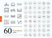 60 nábytek ikony
