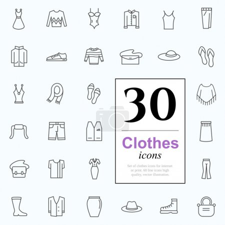 30 clothes icons