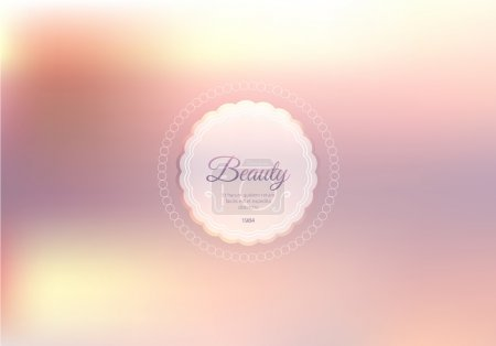 Illustration for Abstract light pink background with beauty logo - Royalty Free Image