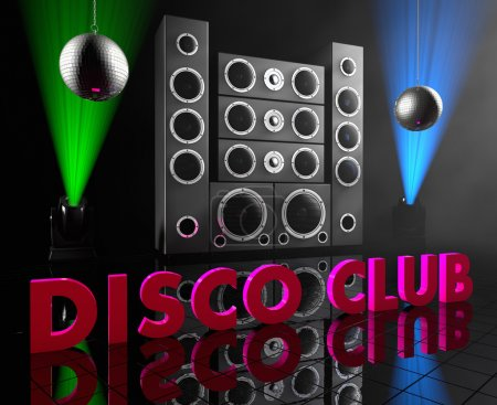 Group of speakers with inscription DISCO CLUB