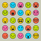 Set of emoticons faces icons