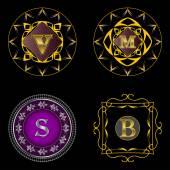 Set art deco monogram