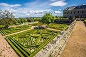 Garden in Castle Escorial at San Lorenzo near Madrid Spain