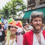 Постер, плакат: People taking part in Milano Pride 2015