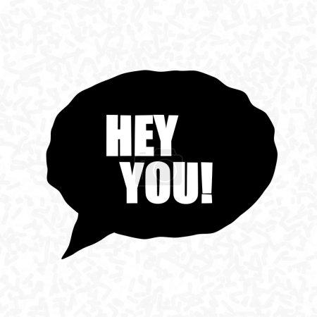 Photo pour Bubbles Hey You ! Illustration des mots d'exclamation - image libre de droit