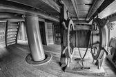 Pirátská loď dřevěné kolo detail
