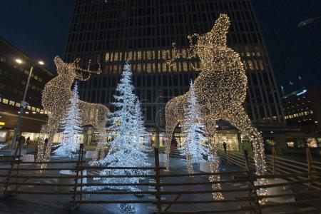 Photo pour Lumières de rues de Noël à Stockholm - image libre de droit