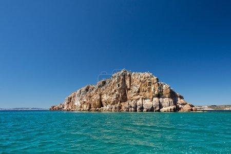 Photo pour Baja californie plage cristal eau blanc paradis tropical panorama - image libre de droit