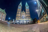 bremen old town night view
