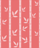 Seamless pattern with silhouettes bamboo