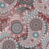 Seamless pattern with traditional Asian elements Paisley