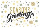 Vintage Seasons greetings card