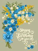 Happy Birthday vintage card